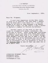 J B Priestley Typed Letter Signed